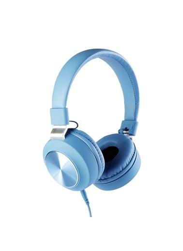 MF Product MF Product Acoustic 0102 Mikrofonlu Kablolu Kulak Üstü Kulaklık Mavi